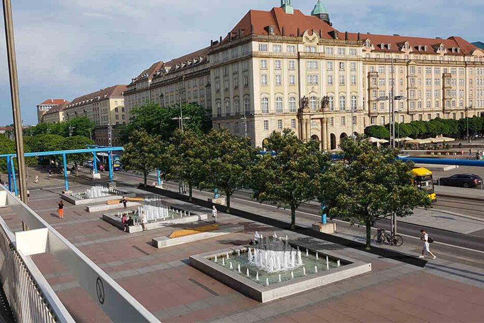 So stellt sich die CDU eine Begrünung des Platzes vor.