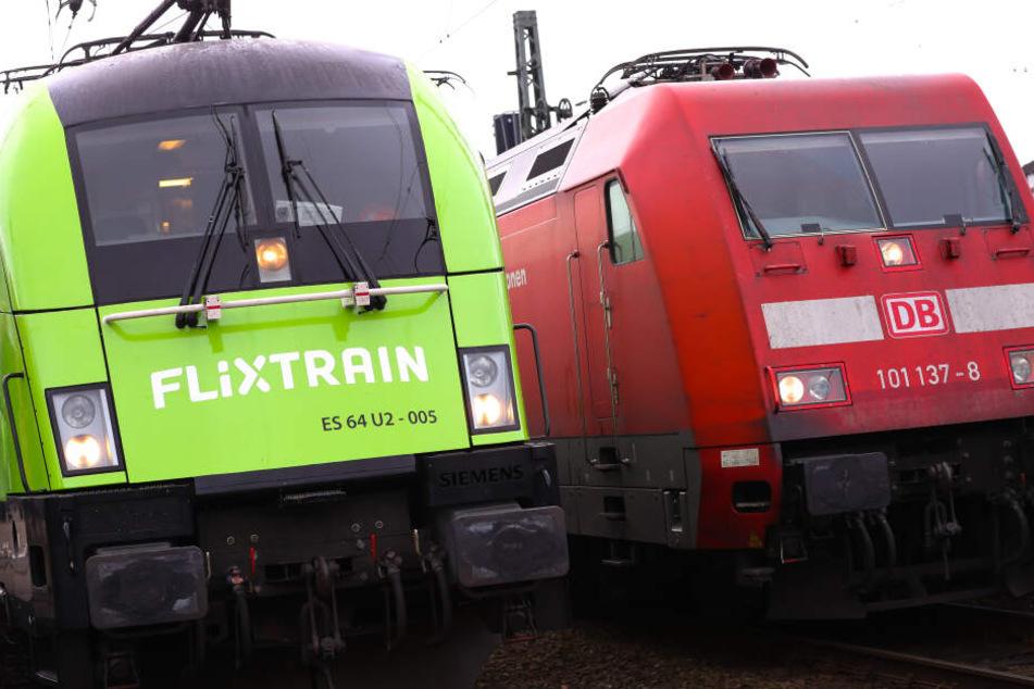 Der Flixtrain will der Deutschen Bahn Konkurrenz machen.