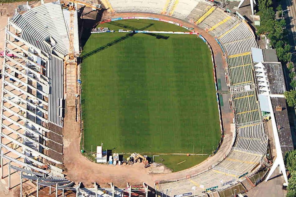 Zwischen 2007 und 2009 wurde das DDV-Stadion an der Lennéstraße gebaut.