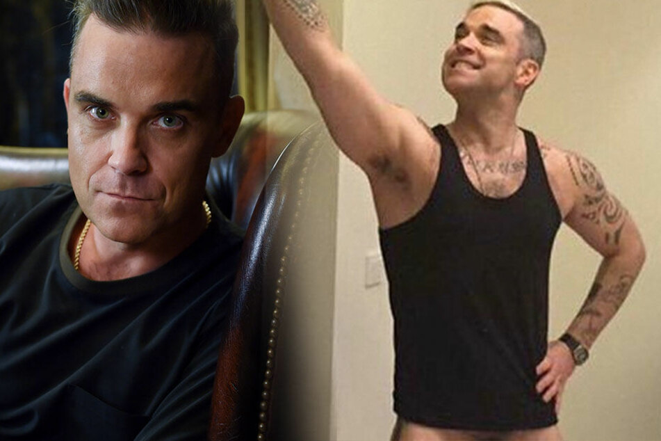 Größenvergleich? Robbie Williams zeigt seinen Penis
