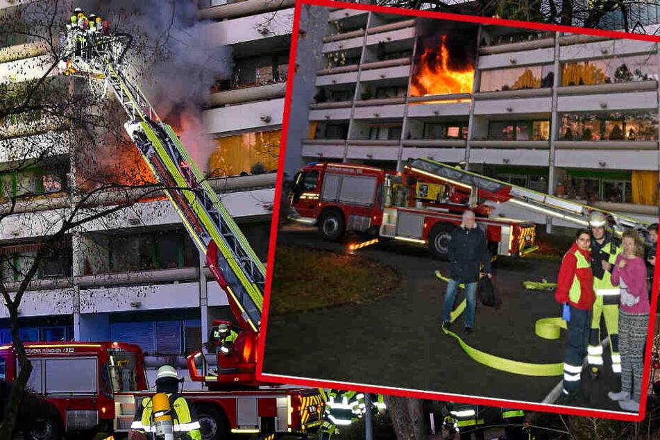 Flammen-Drama in München! Feuerwehr rettet Frau in letzter Sekunde