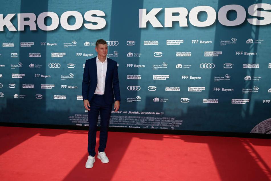 Toni Kroos am Sonntag bei der Filmpremiere in Köln.