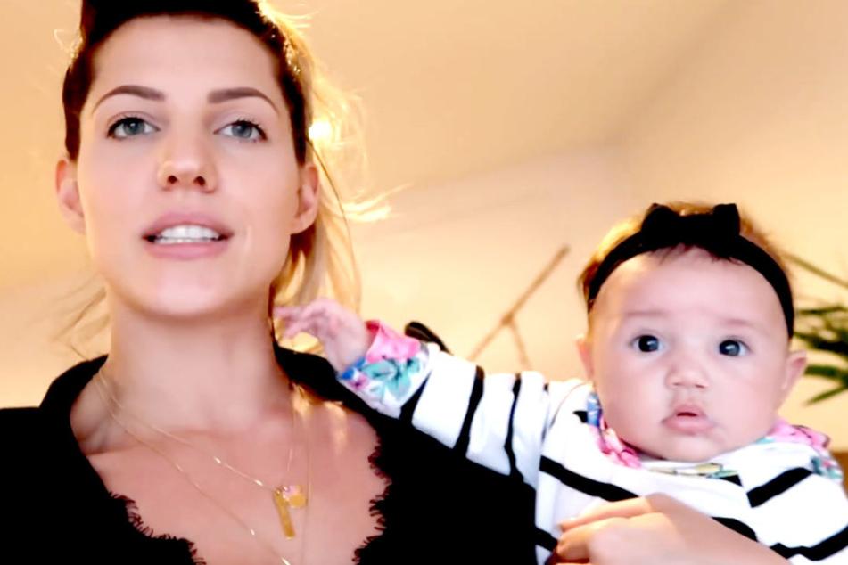 Sarah Harrison (26) ist vor vier Monaten Mutter der kleinen Mia Rose geworden.