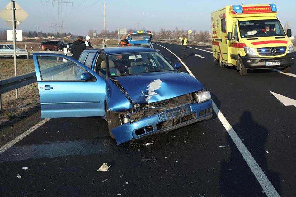 Der VW Polo wurde schwer beschädigt.