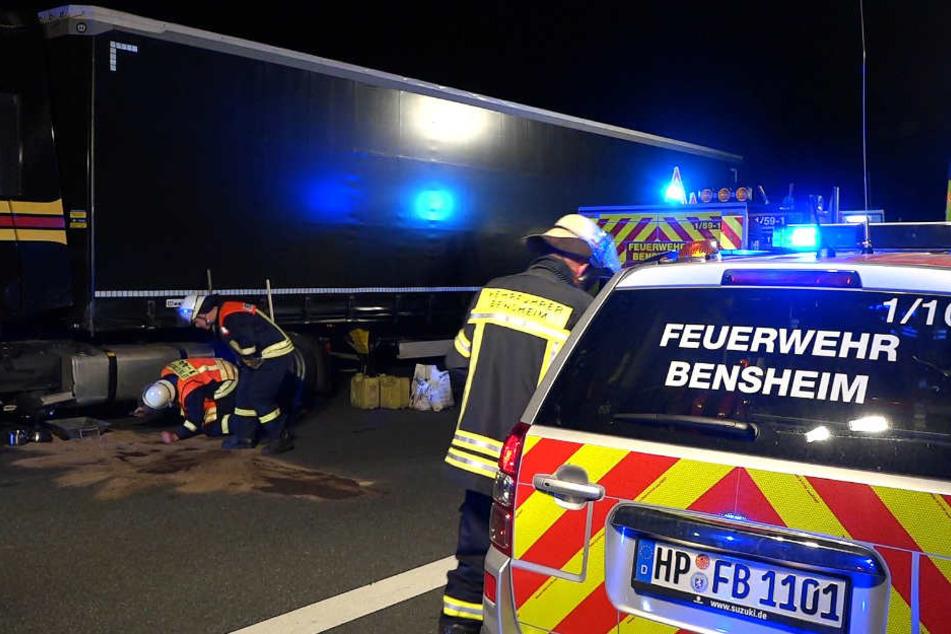Der Lkw-Fahrer wurde von der Polizei festgenommen.