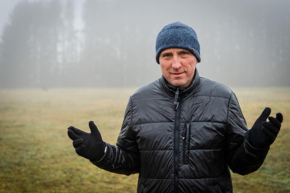 Frank Hösel (53) kämpfte mit einer Petition für den Erhalt des Wäldchens.