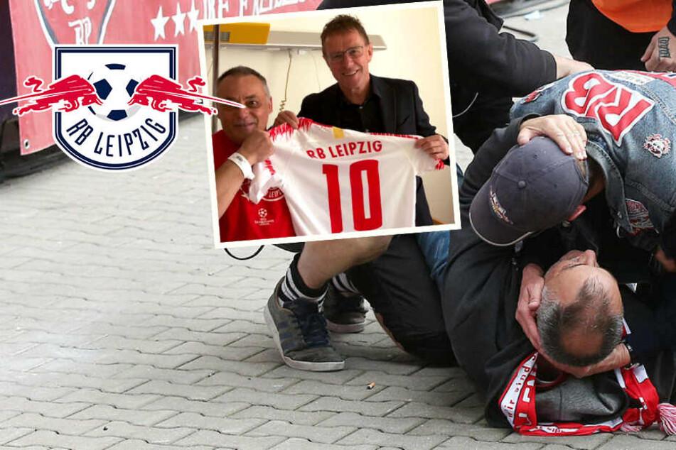 RB Leipzigs Ersthelfer Ralf Rangnick besucht Sprung-Opfer im Krankenhaus