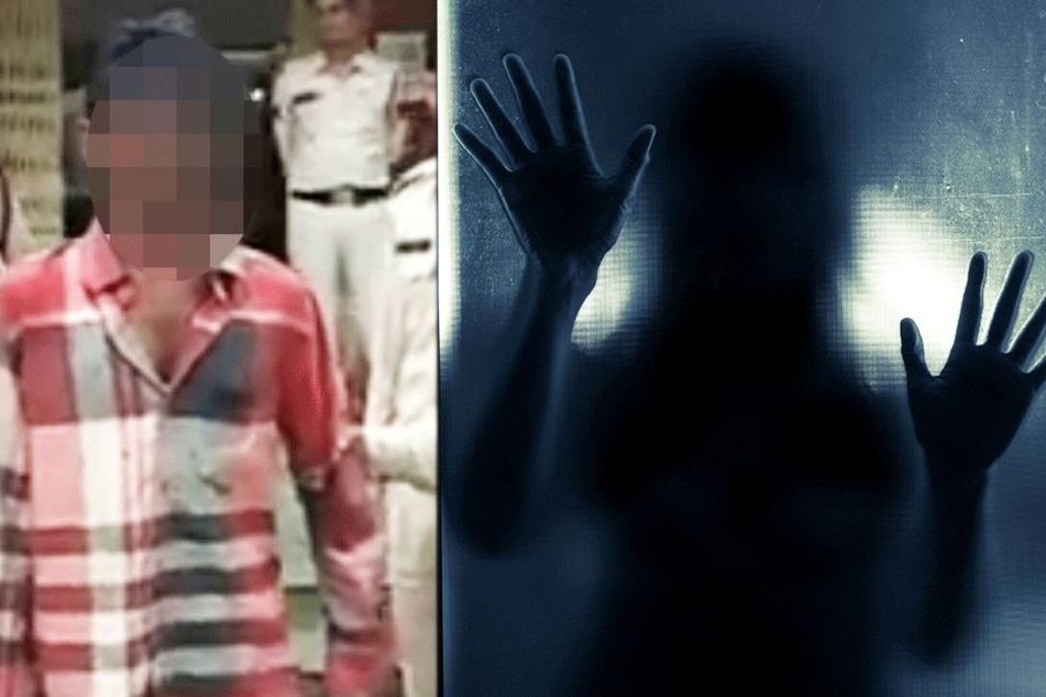 Links: Der Täter auf einem YouTube-Video bei seiner Festnahme.