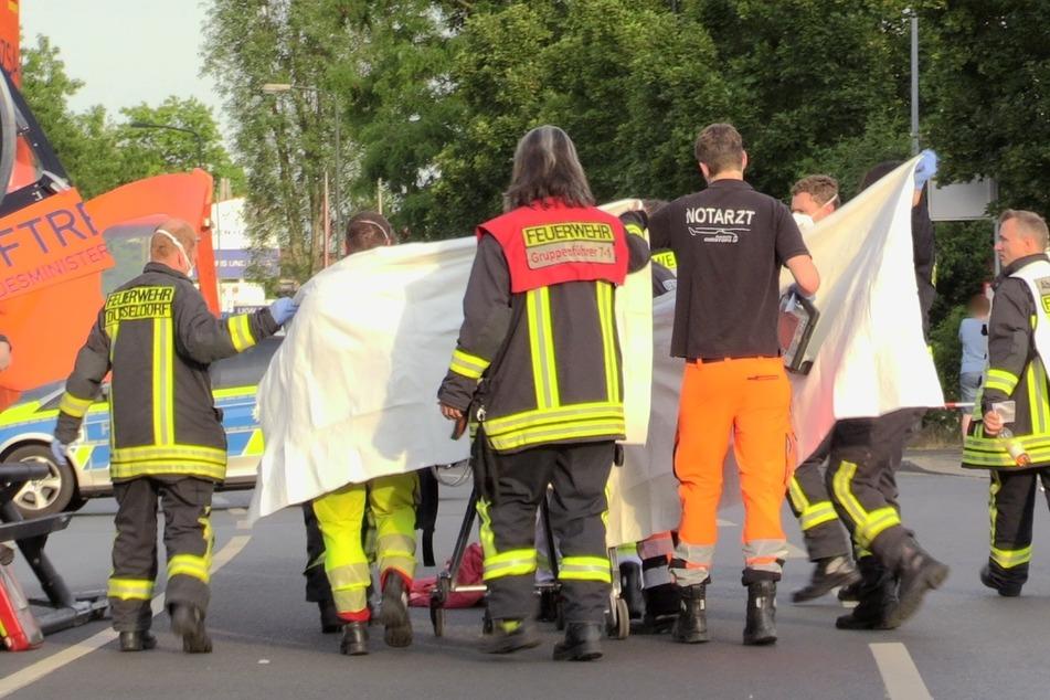 Mann in Flammen: Opfer stirbt an schweren Verbrennungen