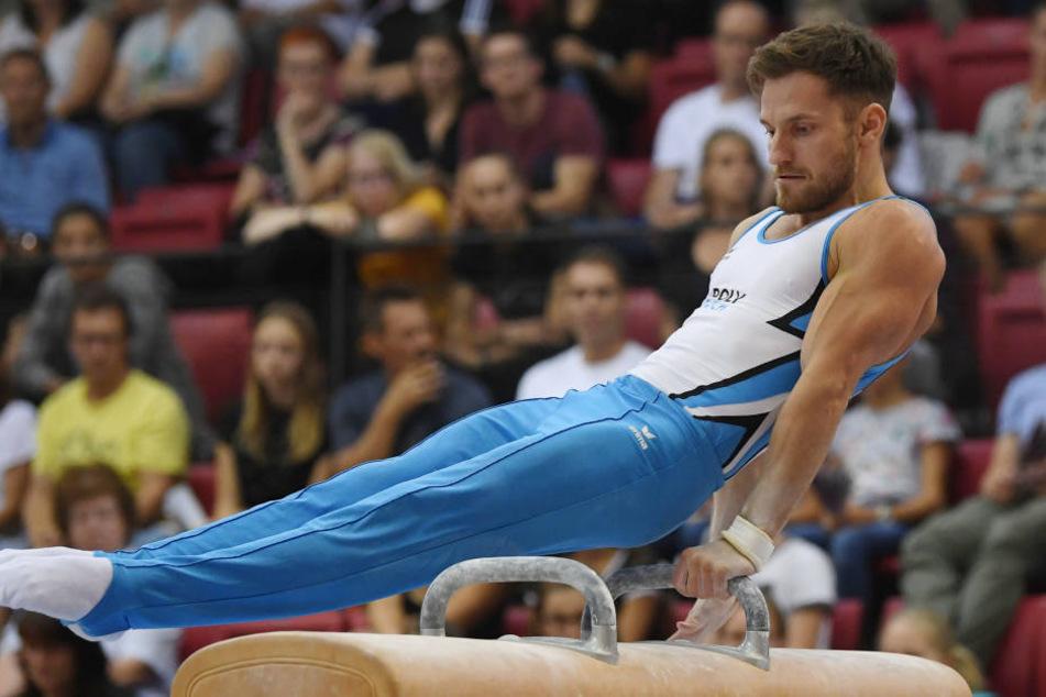 Andreas Bretschneider riss sich beim Einturnen die Achillessehne im linken Fuß.