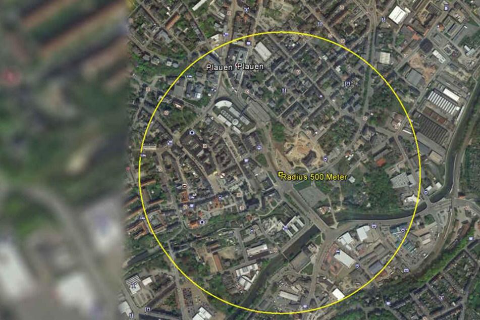 In einem Umkreis von 500 Metern müssen Personen evakuiert werden.