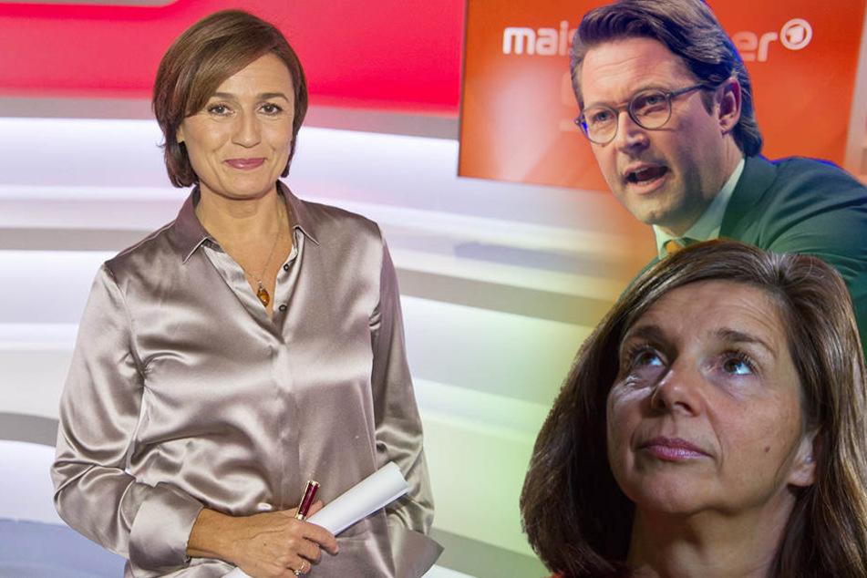 Gäste bei Maischberger (li.) am Mittwoch sind unter anderem die Politiker Katrin Göring-Eckardt (50, Grüne) und Andreas Scheuer (42, CSU).