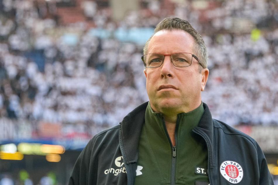 Pauli-Trainer Markus Kauczinski war mit dem Auftritt seiner Jungs im Testspiel gegen Niendorf nicht ganz zufrieden.