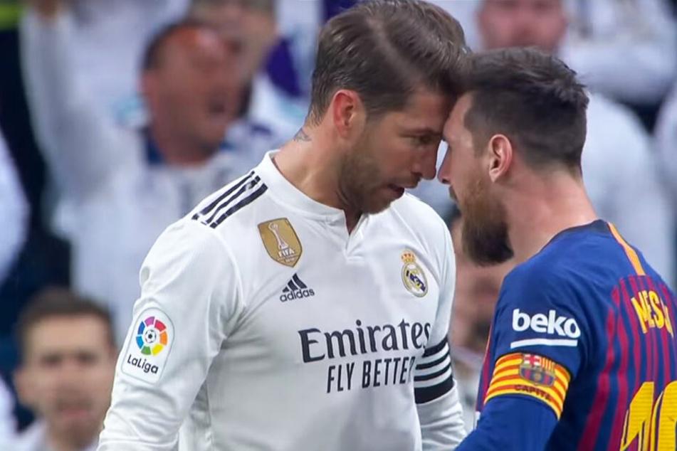 Nicht mit mir! Barcas Lionel Messi geigt Reals Rüpel-Ramos die Meinung