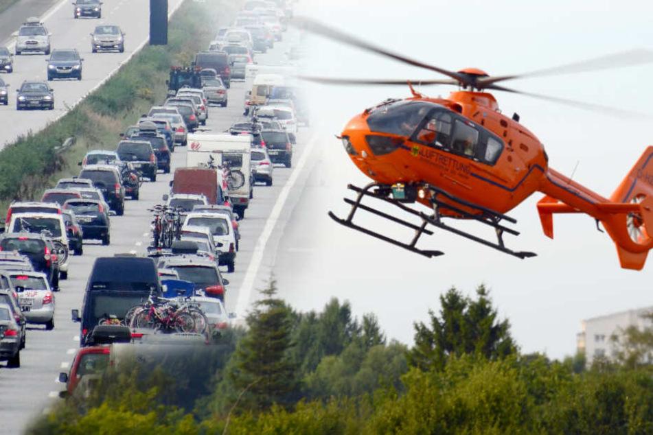 Hubschrauber im Einsatz: Kilometerlange Staus auf der A7!