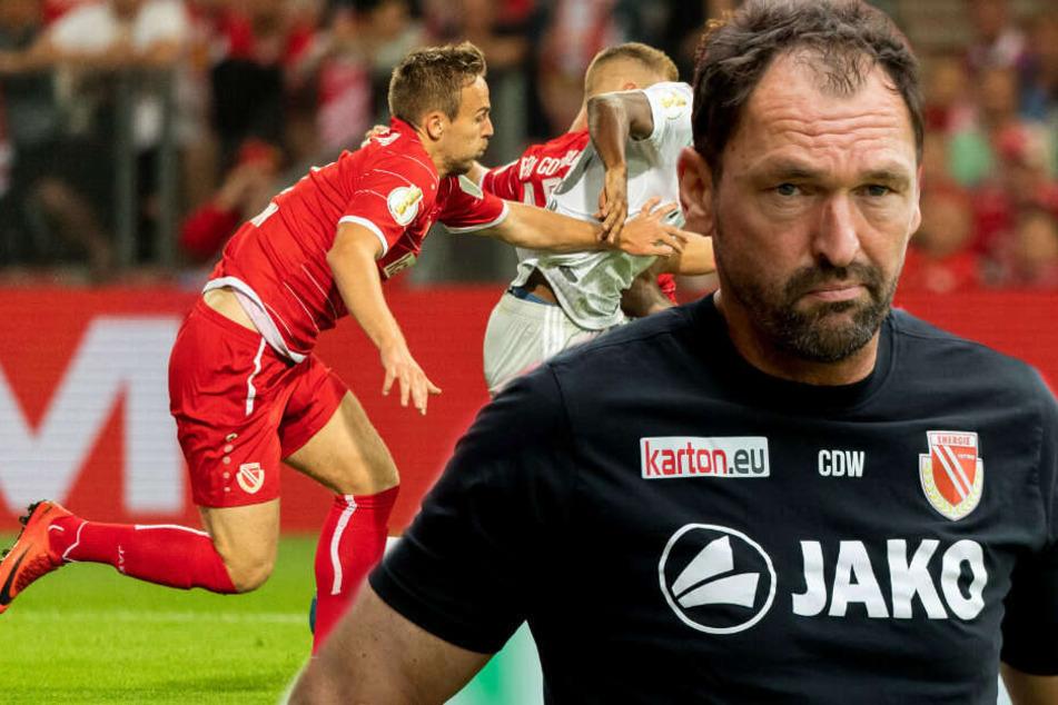 Paul Gehrmann (l) hatte sich im Training schwer verletzt.