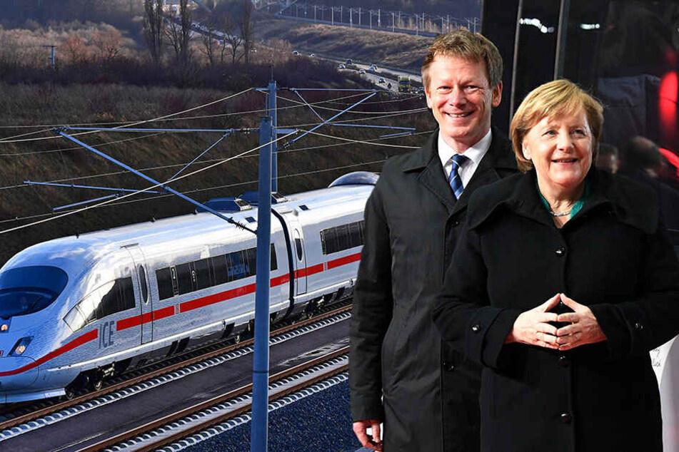 ICE-Neubaustrecke: Erneute Pannen bei offizieller Eröffnung