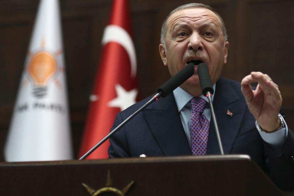 Recep Tayyip Erdogan, Präsident der Türkei, wählte erschreckende Worte.