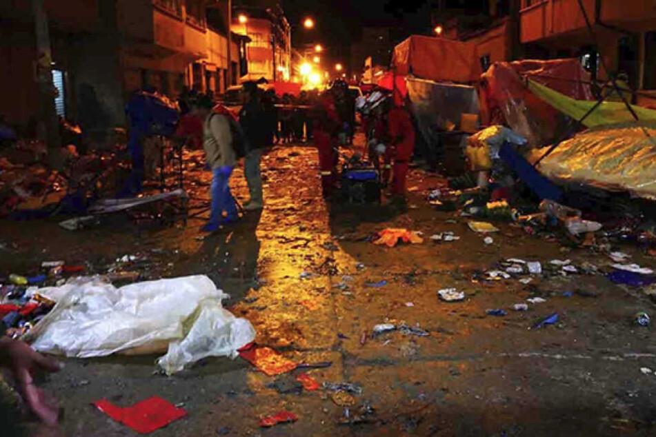 Durch die Explosion wurden sechs Menschen getötet.