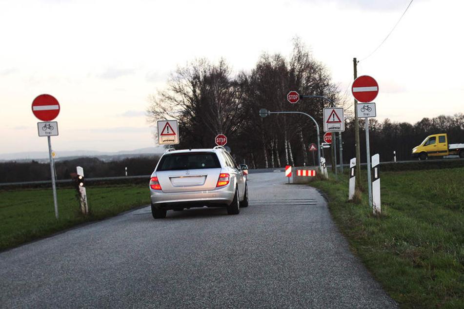 An dieser Kreuzung begehen täglich über 200 Autofahrer eine Verkehrssünde.