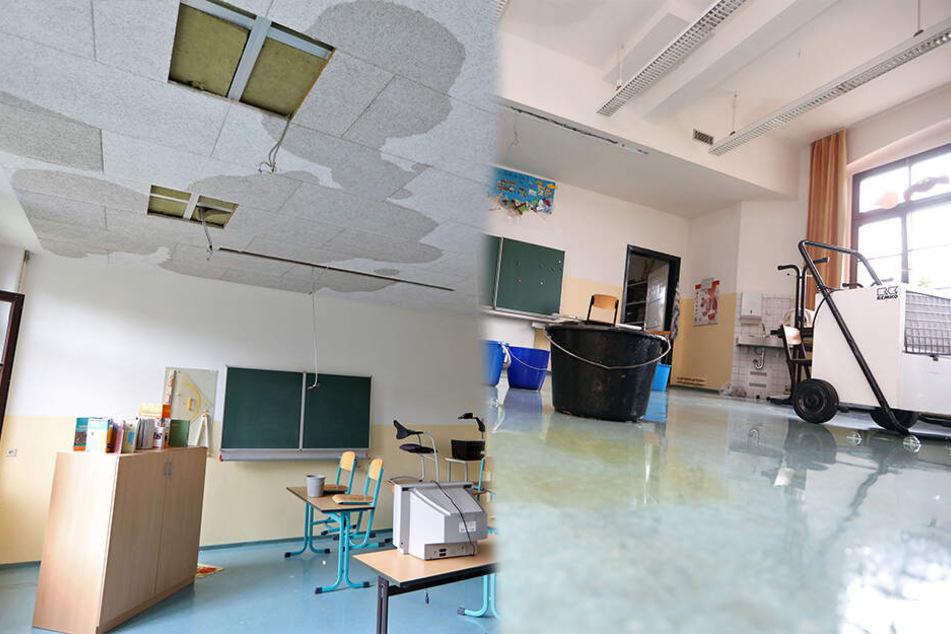Leitung gerissen, Zimmer unter Wasser: Unterrichtsausfall in Glauchau