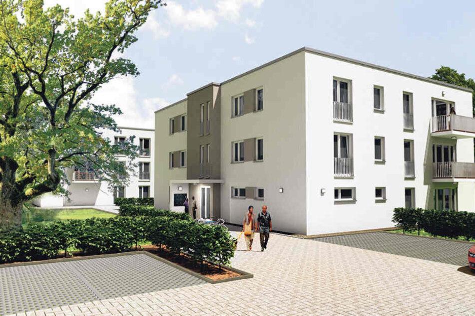 An der Lugaer Straße entstehen 25 Wohnungen und 15 Pkw-Stellplätze.