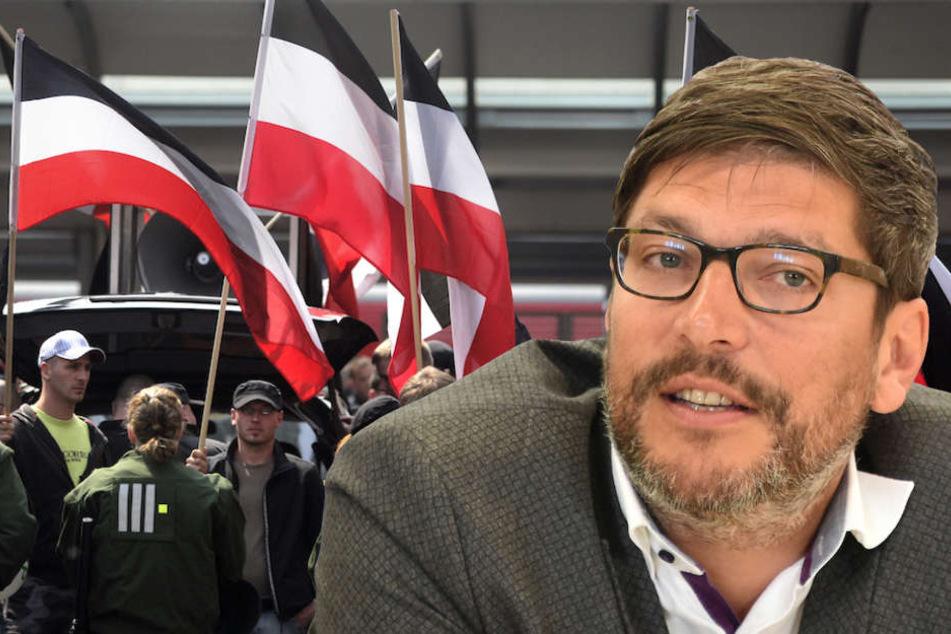 Berlins Justizsenator Dirk Behrendt (47, Grüne) stellt die neue Kampagne am Montag vor. (Bildmontage)