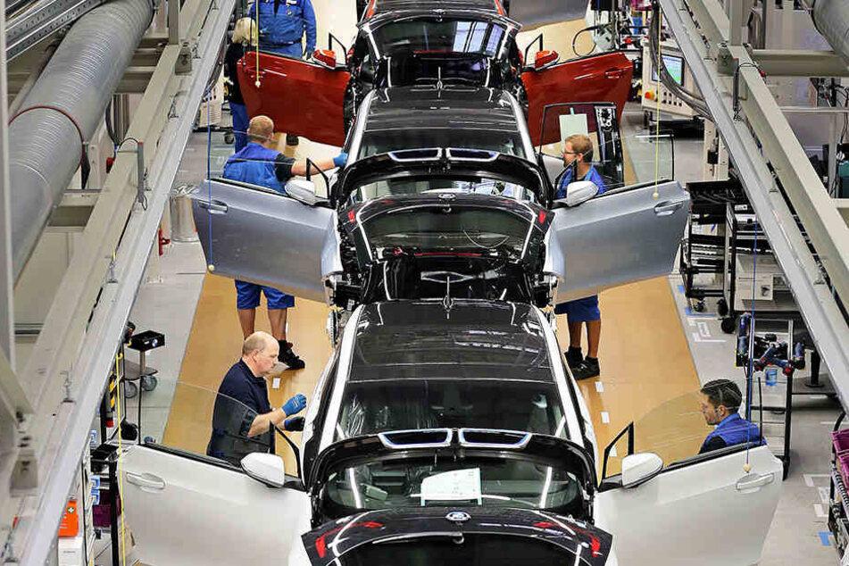 In dem Leipziger Werk gehen seit einigen Jahren auch Elektro-Autos vom Band.