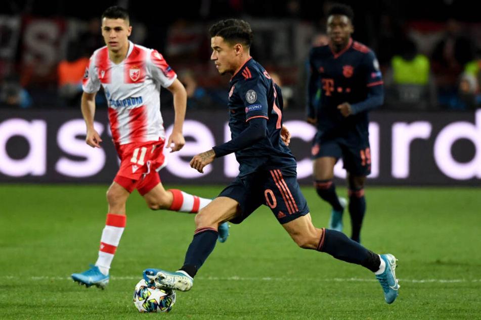Philippe Coutinho spielte wie schon gegen Düsseldorf auf Linksaußen.
