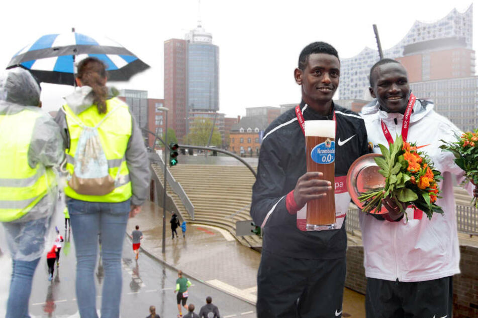 """Trotz """"Schietwetter"""": Hier kommen die Highlights vom 34. Hamburg Marathon!"""