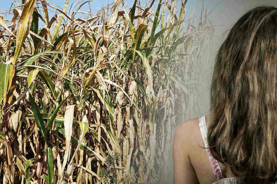 Schrecklich! Das Mädchen (8) wurde in einem Maisfeld vergewaltigt und blutend zurückgelassen. (Symbolbild/ Fotomontage)