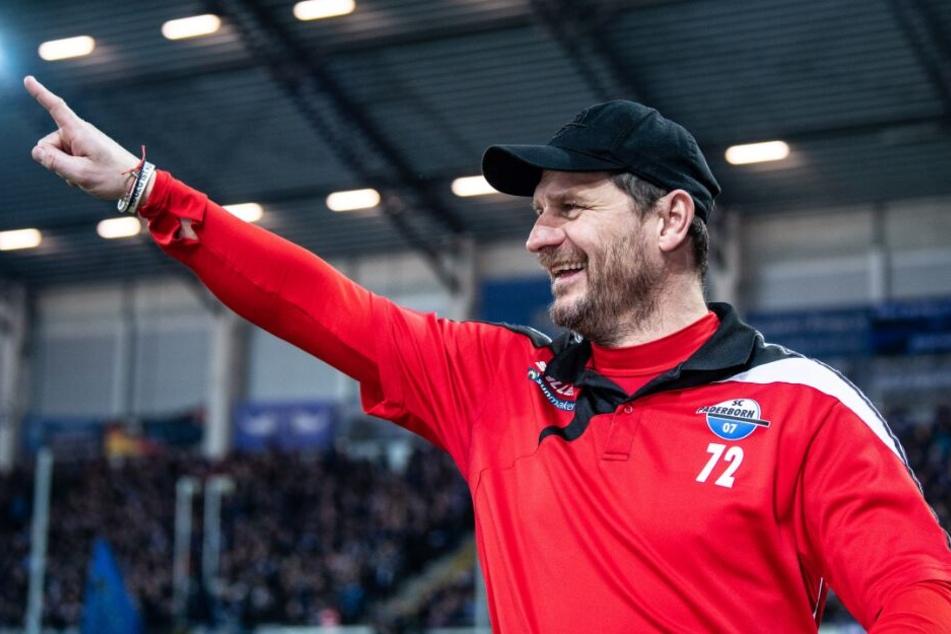 Steffen Baumgart war nach dem Spiel sehr zufrieden mit seiner Mannschaft.