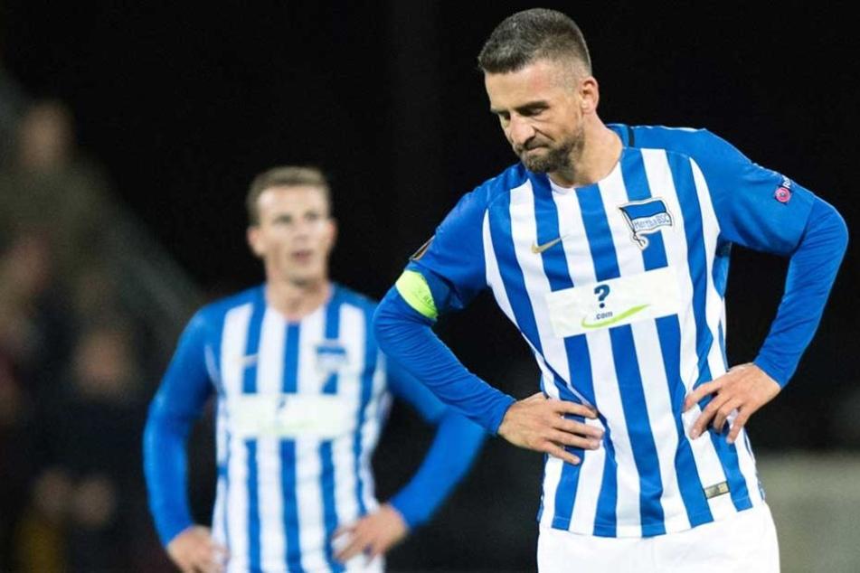Auch Hertha-Kapitän Vedad Ibesevic hat derzeit Probleme damit, dass Tor zu treffen.