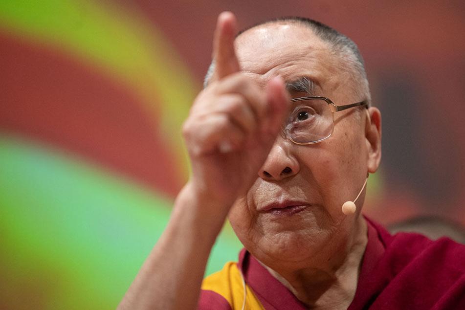 Der Dalai Lama bei einem Besuch in Deutschland.