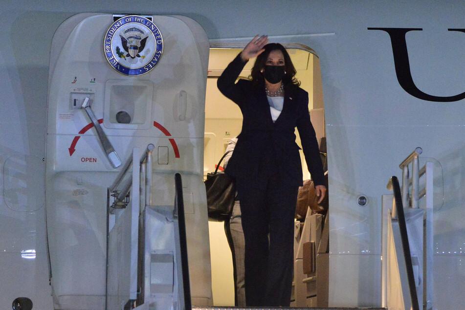 Kamala Harris landed in Mexico City on Monday night.