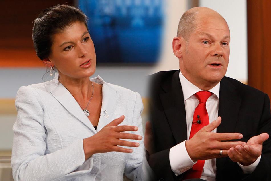 """Olaf Scholz geht bei """"Anne Will"""" auf Wagenknecht los: """"Wie Donald Trump"""""""