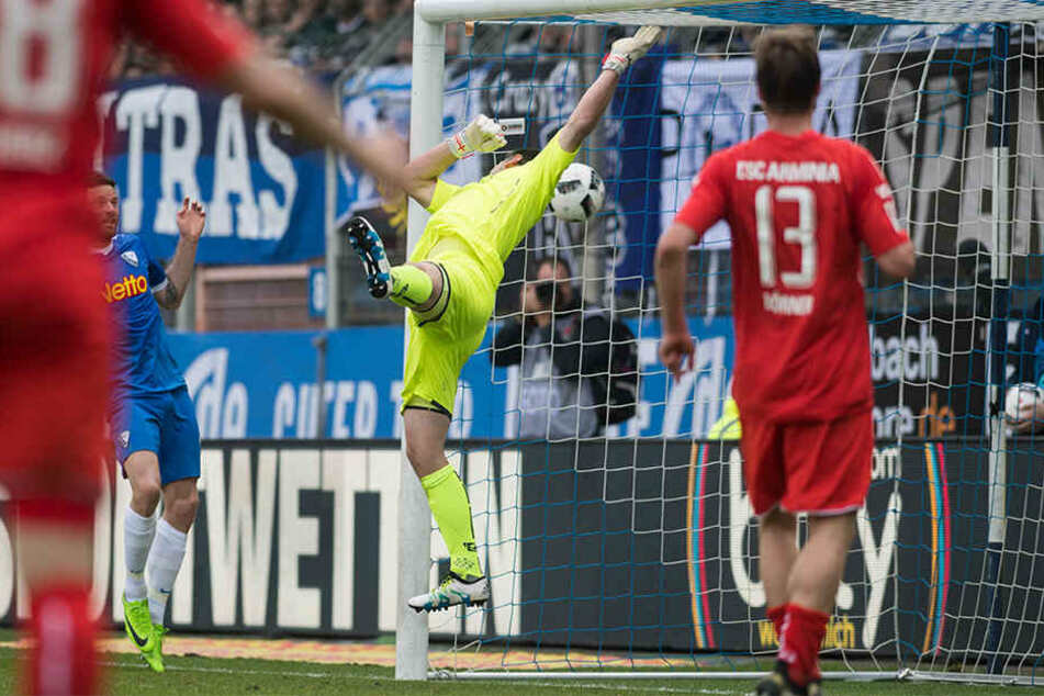 In der 82. Minute konnte Keeper Wolfgang Hesl nur noch hinter sich greifen.