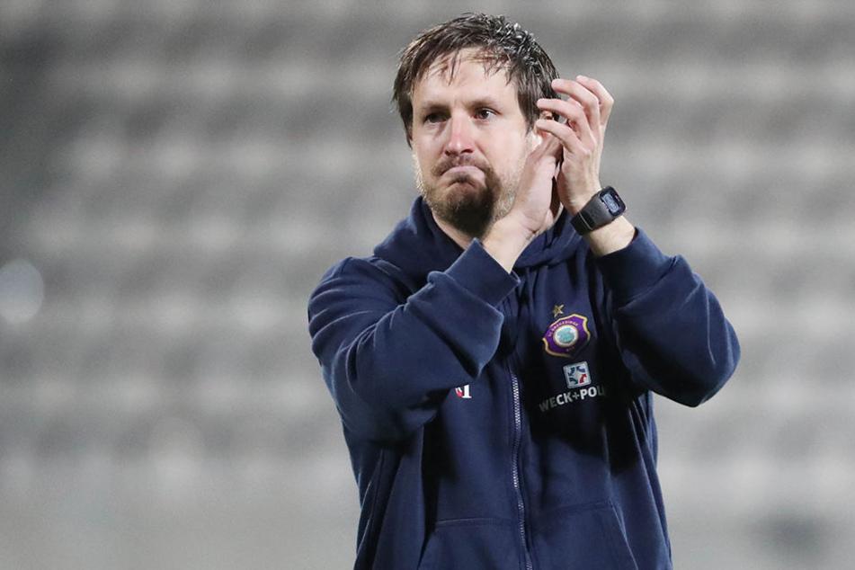 Trainer Hannes Drews war nach dem Sieg über Sandhausen zufrieden mit seiner Mannschaft.