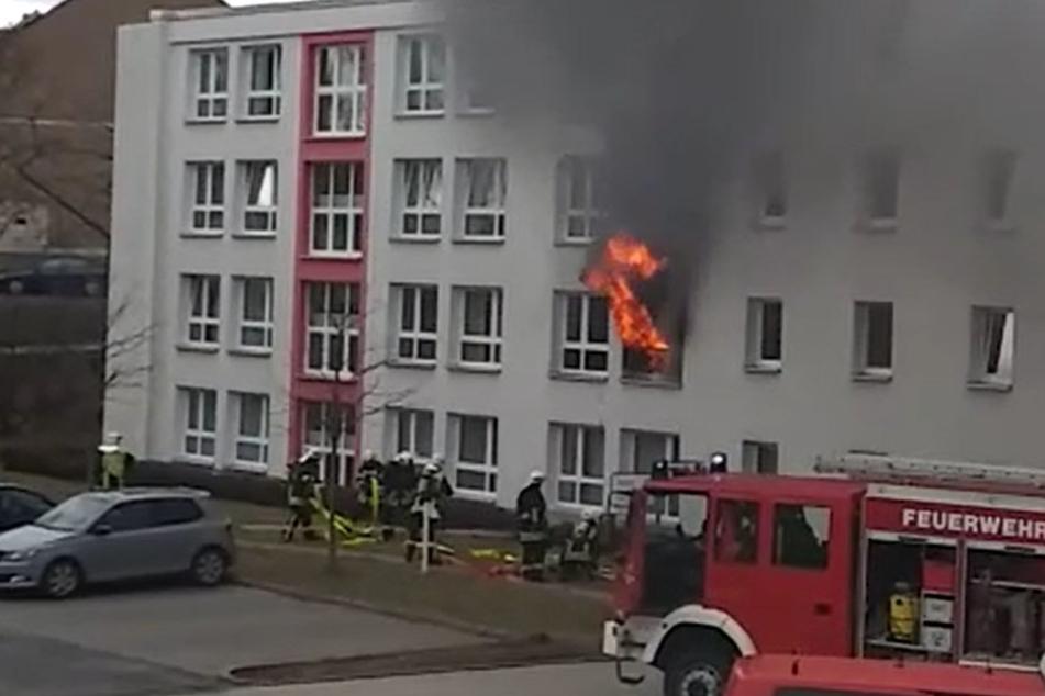 Der Brand brach im ersten Stock des Pflegeheimes aus.