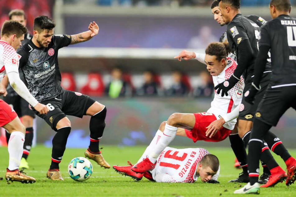 Das Spiel von RB Leipzig war in der zweiten Halbzeit sehr holprig.