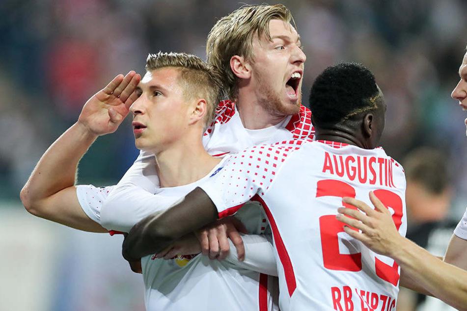 Sieg um jeden Preis: Die Roten Bullen wollen sich gegen VfB Stuttgart den vierten Heimsieg holen.