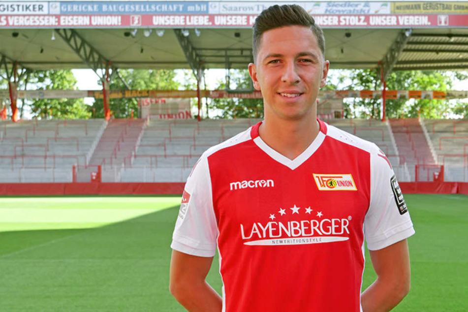 Neuzugang Robert Zulj (26) trägt bei Union Berlin das Trikot mit der Nummer 32.