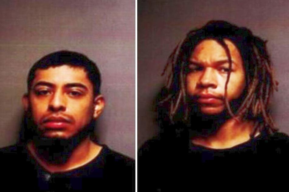 Die beiden Täter konnten in der Garage gestellt werden.