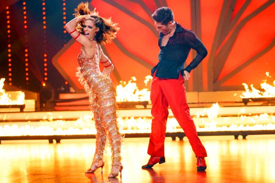 "Sie gilt als absolute ""Let's Dance""-Favoritin: Vanessa Mai (25) legt sich beim Training mit Partner Christian Polanc mega ins Zeug."