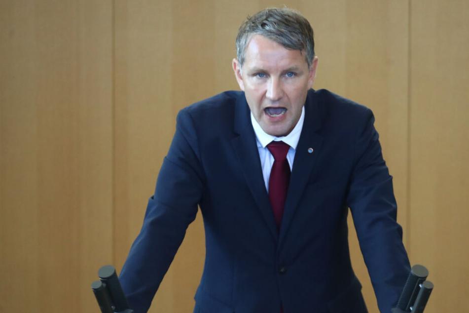 Björn Höcke bei einer Landtagssitzung in Erfurt.