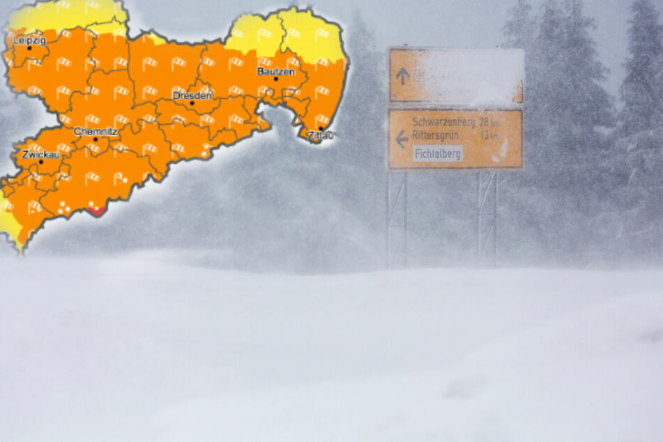 Unwetterwarnung: Orkanartige Böen und Glätte-Gefahr in Sachsen