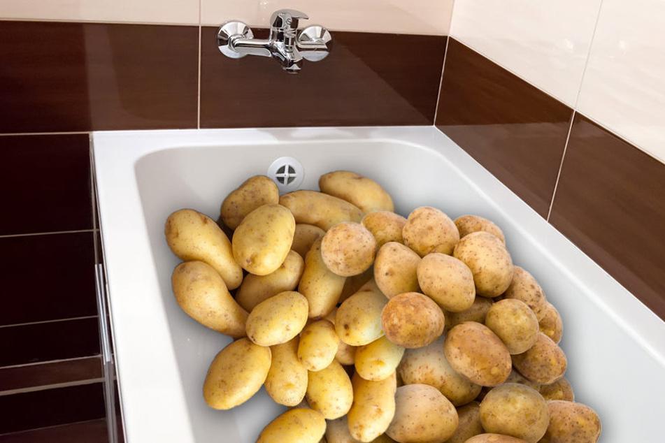 Mann füllt Kartoffeln in Badewanne, kurze Zeit später wird er festgenommen