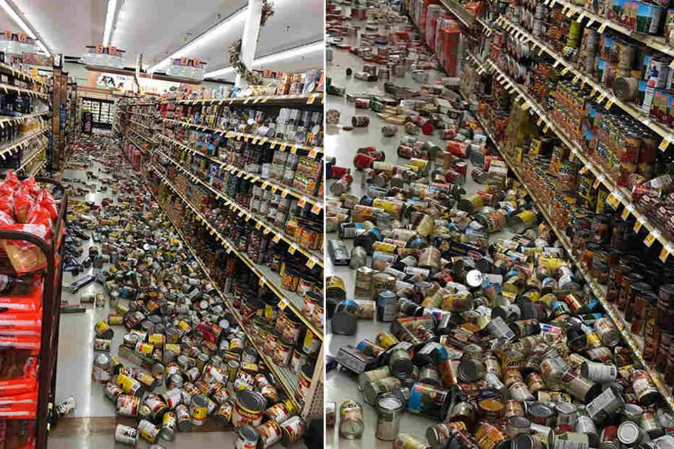 In einem Supermarkt in Ridgecrest fielen Lebensmittel aus den Regalen.