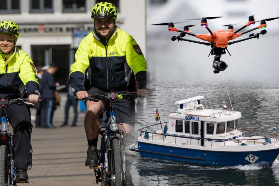 Boote, Fahrräder und Drohnen: Bayerns Polizei ist auf alles vorbereitet