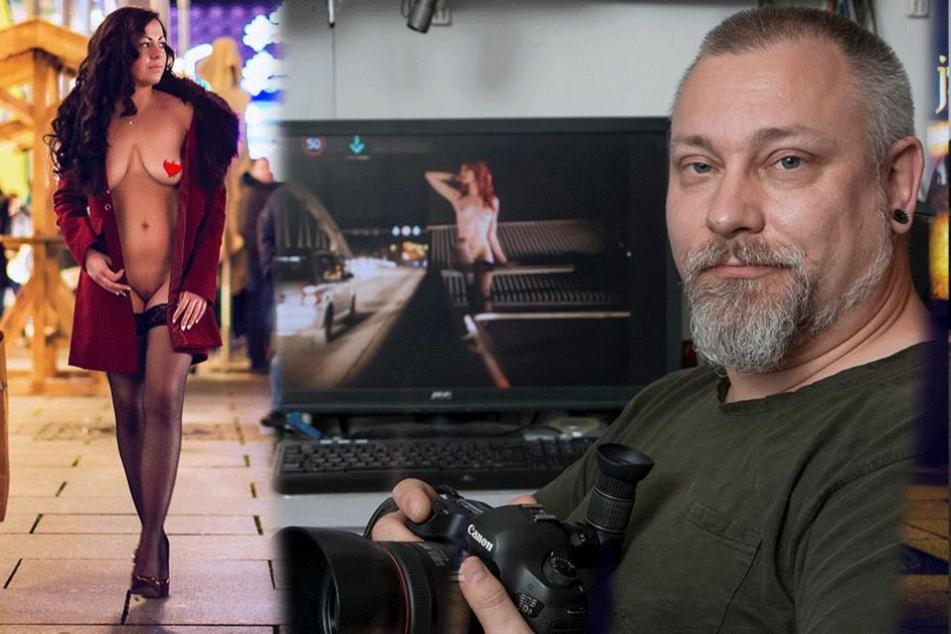 Dieser Fotograf schickt Frauen nackt durch die Stadt